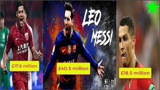 Top 10 highest paid footballers in 2018 Lionel Messi, Neymar , Alexis Sanchez, Cristiano R