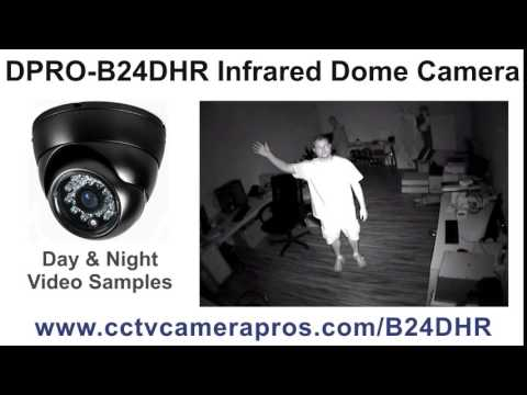 Infrared Dome CCTV Camera Day and Night Surveillance Video Demo