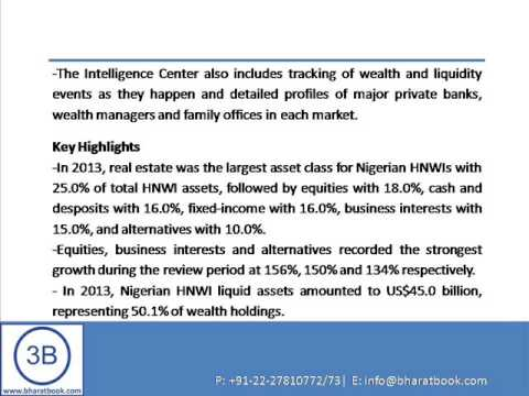 Bharat Book Presents : HNWI Asset Allocation in Nigeria to 2014