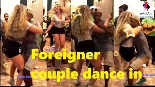 foreigner cute couple || dancing on Hindi song || Husn Hai Suhana || kaliyon jaisa husn jo paya.