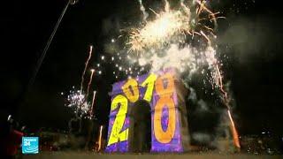 احتفالات مبهرة حول العالم بالعام الجديد