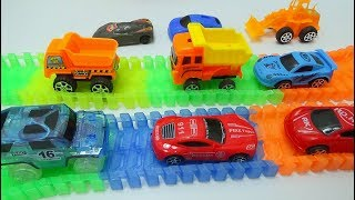 Baby Time - Small truck and car toys on track