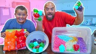DIY Edible Gummy Orbeez Pokemon Pikachu Secret Revealed with Giant Gummi Bear and Shopkins!!