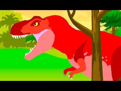Динозавры Мультик - Тиранозавр Рекс | Веселые Динозаврики
