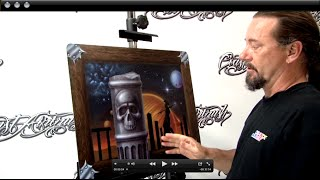 How To Airbrush on a Metal Panel & Render 3D w/ Kiwi Terry