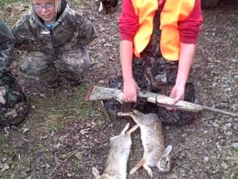 Next Generation Hunting Brings You 1st rabbit for 2 kids on the same day Video
