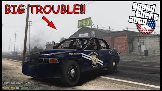 GTA 5 ROLEPLAY - HIGHWAY DEMOLITION DERBY WITH COPS!! (COPS CHASED US!)   - EP. 919 - AFG -  CIV