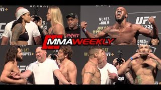 UFC 239 Ceremonial Weigh-In: Jon Jones, Nunes, Holm, Askren, Masvidal  (Complete)