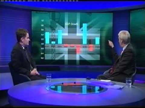 UK Economy grows 0.3% Jan -Mar 2013 (newsnight) - Chancellor George Osbourne / David Gauke MP