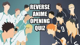Reverse Anime Opening Quiz #2 | 10 Openings