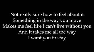 Rihanna - Stay (Solo version) Lyrics