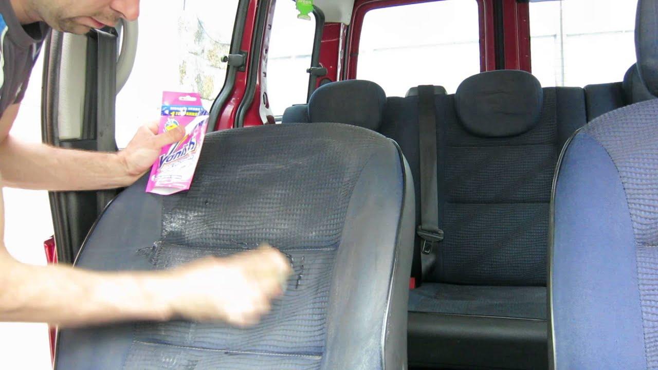 Как почистить сиденья автомобиля своими руками видео