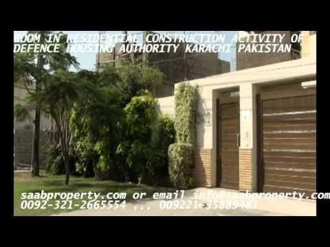 BOOM IN CONSTRUCTION BUSINESS OF RESIDENTIAL HOUSES AND HOMES OF DEFENCE  DHA KARACHI PAKISTAN