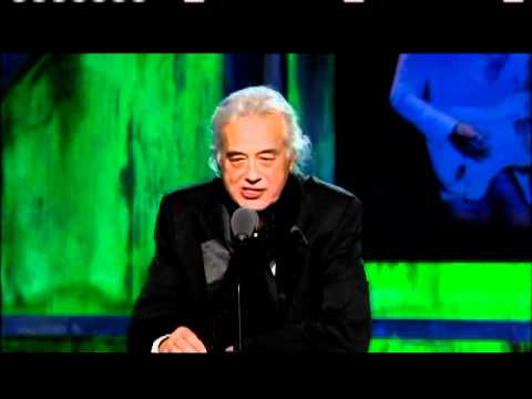 Jimmy Page inducts Jeff Beck 2009