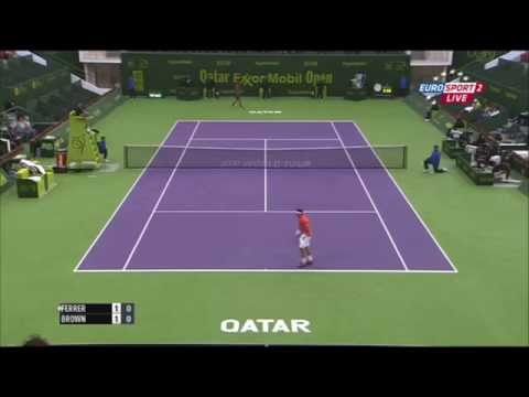David Ferrer vs Dustin Brown - Doha 2015 QF Highlights