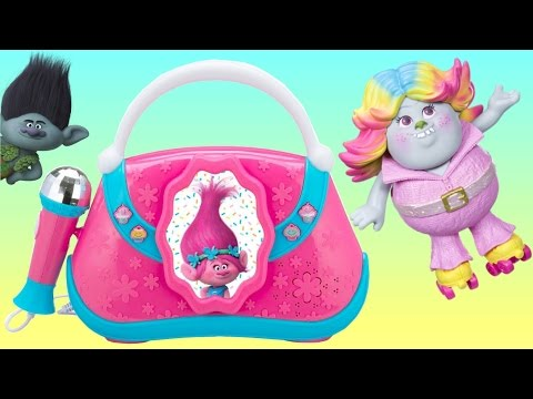 TONS of TROLLS Toy Playset: Poppy Boom Box Brigette Bergen Doll. Branch Music Light Guy Diamond TUYC