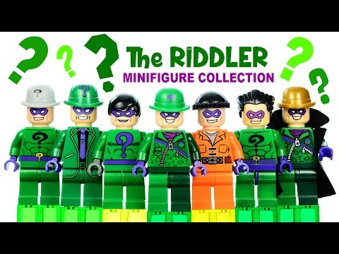 """LEGO DC Comics """"The Riddler"""" Super-Villain Minifigure Collection Gallery of Variants"""