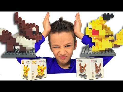 Собираем Покемонов из конструктора iBlock Fun Смешные Видео для Детей Pokémon