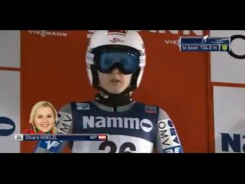 Ski jumping World Cup 2016 Ladies. Oslo Chlara Hoelzl (AUT)