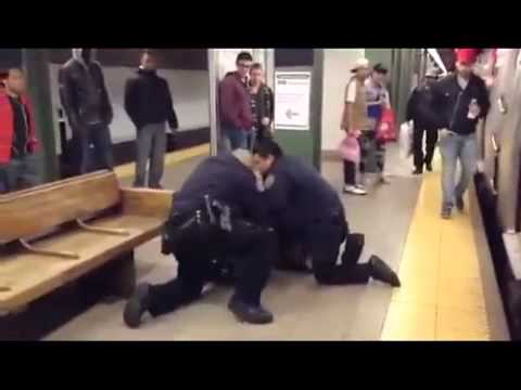 Black Woman Refuses To Get Out Her Seat Then Punches Cop In The Face On The Subway!
