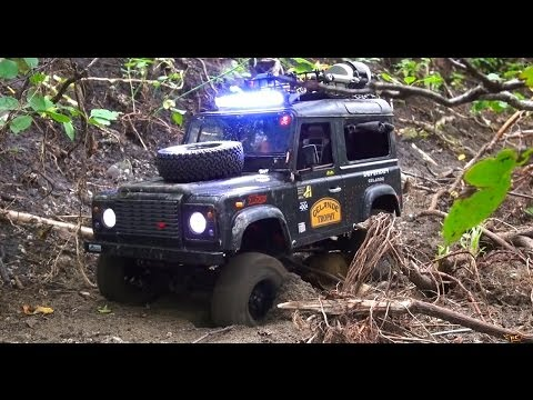 RC ADVENTURES - ULTRA Scale 4x4 Camel Trophy Scale Driver Training - Defender D90 Rover