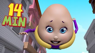 Humpty Dumpty Ran Too Fast Good Habits Nursery Rhymes | Infobells