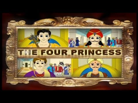 The Four Princess Hindi Story For Kids video