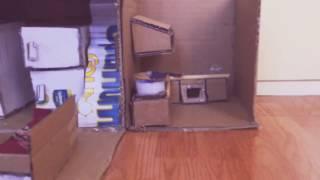 Mô hình nhà búp bê mini bằng giấy