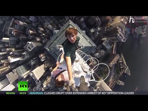 #Heroes2014: 'Crazy Russians' climb Dubai skyscraper, snap vertigo-inducing selfie