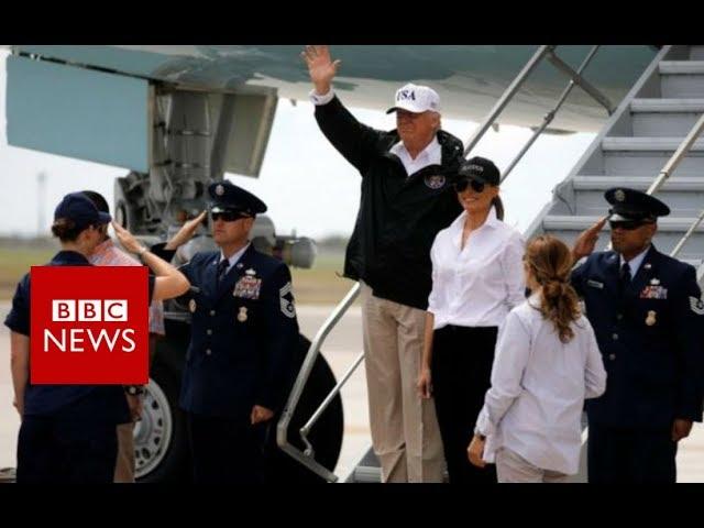 Houston flood: Trump visits Texas amid 'epic' rainfall - BBC News