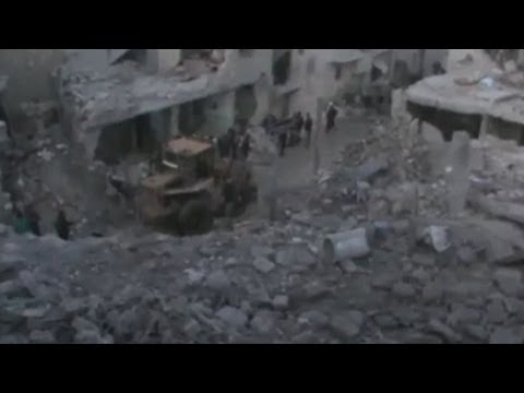 Syria: Amateur footage 'shows aftermath of airstrikes' in Aleppo