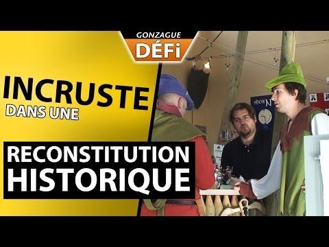 image vidéo GonzagueTV : Incruste dans une reconstitution historique