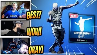 NINJA & STREAMERS REACT *NEW* ELECTRO SWING! - Fortnite Epic & Funny Moments