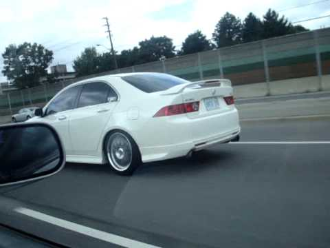 White Tsx Lowered Youtube