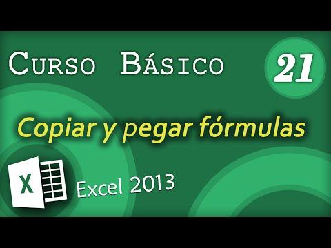 Copiar y pegar fórmulas | Excel 2013 Cuarso Básico #21