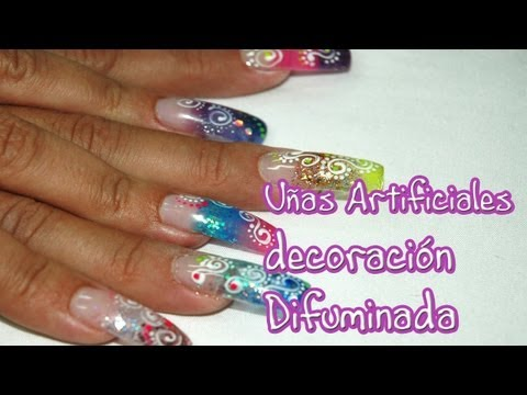 Title: UÑAS DECORADAS animal print, flor 3D, difuminado