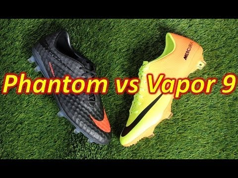 Nike HyperVenom Phantom VS Nike Mercurial Vapor 9 - Comparison Review