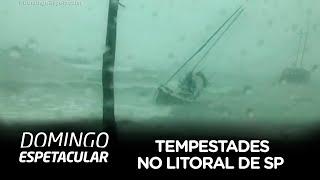 Entenda as causas da tempestade que atingiu o litoral de SP