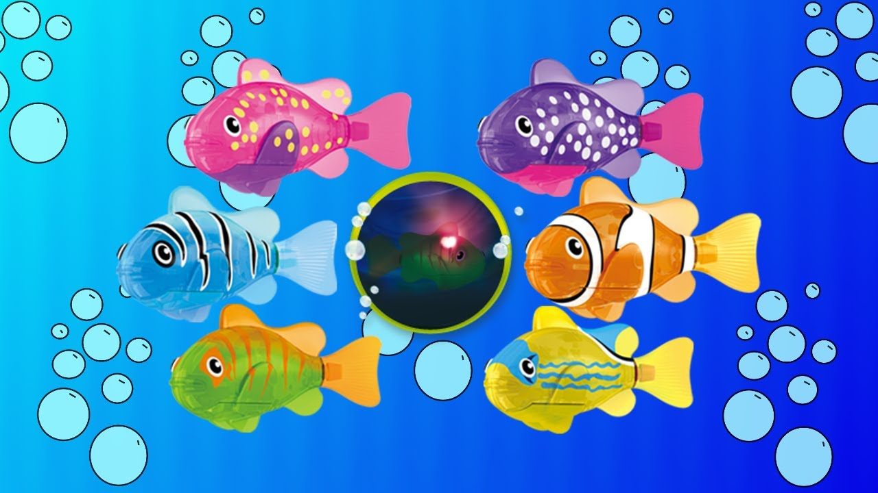 Robo fish led fish lifelike robotic smart fish toy for Zuru robo fish