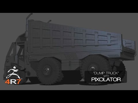 Modeling a Truck with Pixolator in ZBrush 4R7