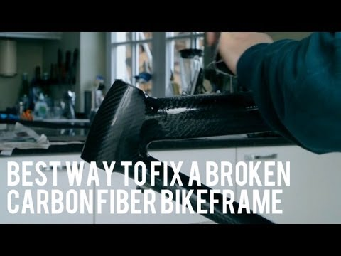 Repair Of Broken Carbon Fiber Bike Frame - DIY €25 (Extended tutorial)