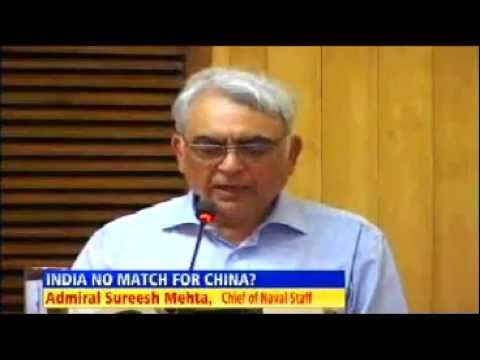 India can't match China's military force - Indian Navy Chief