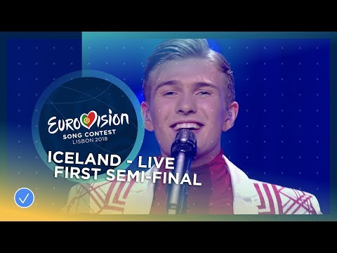 "Ari Ã""lafsson - Our Choice - Iceland - LIVE - First Semi-Final - Eurovision 2018"