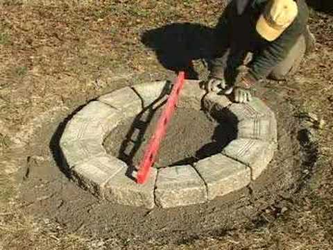 How to Build a Fire Pit - YouTube