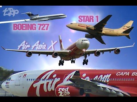 Air Asia X Takeoff Stansted STN A340 Raiders Boeing 727 Ryanair EasyJet Aurigny Star1