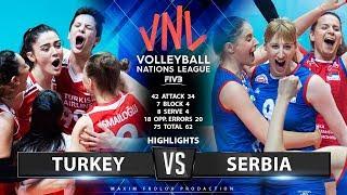 Turkey vs Serbia   Highlights   Women's VNL 2019