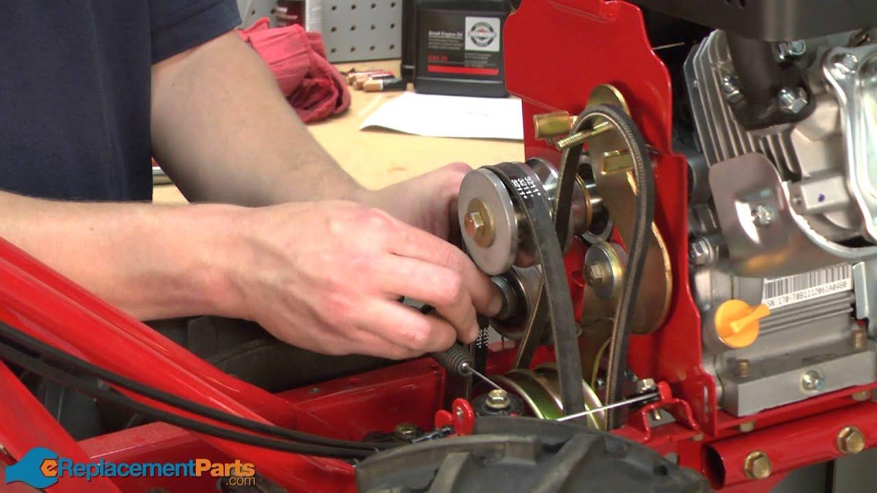 How To Replace The Idler Pulleys On A Troy-bilt Super Bronco Tiller  Part   684-04168