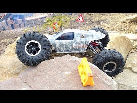 RC ADVENTURES - HUGE Backyard Rock Course - Tips & Tricks Challenge - Axial XR10 - PT2