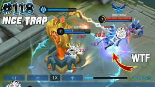WTF Mobile Legends Funny Moments 118 😍 Nice Trap 😂 Poor Gusion