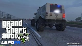 GTA 5 - LSPDFR - EPiSODE 40 - LET'S BE COPS - MILITARY PATROL - Fort Zancudo (GTA 5 PC POLICE MODS)